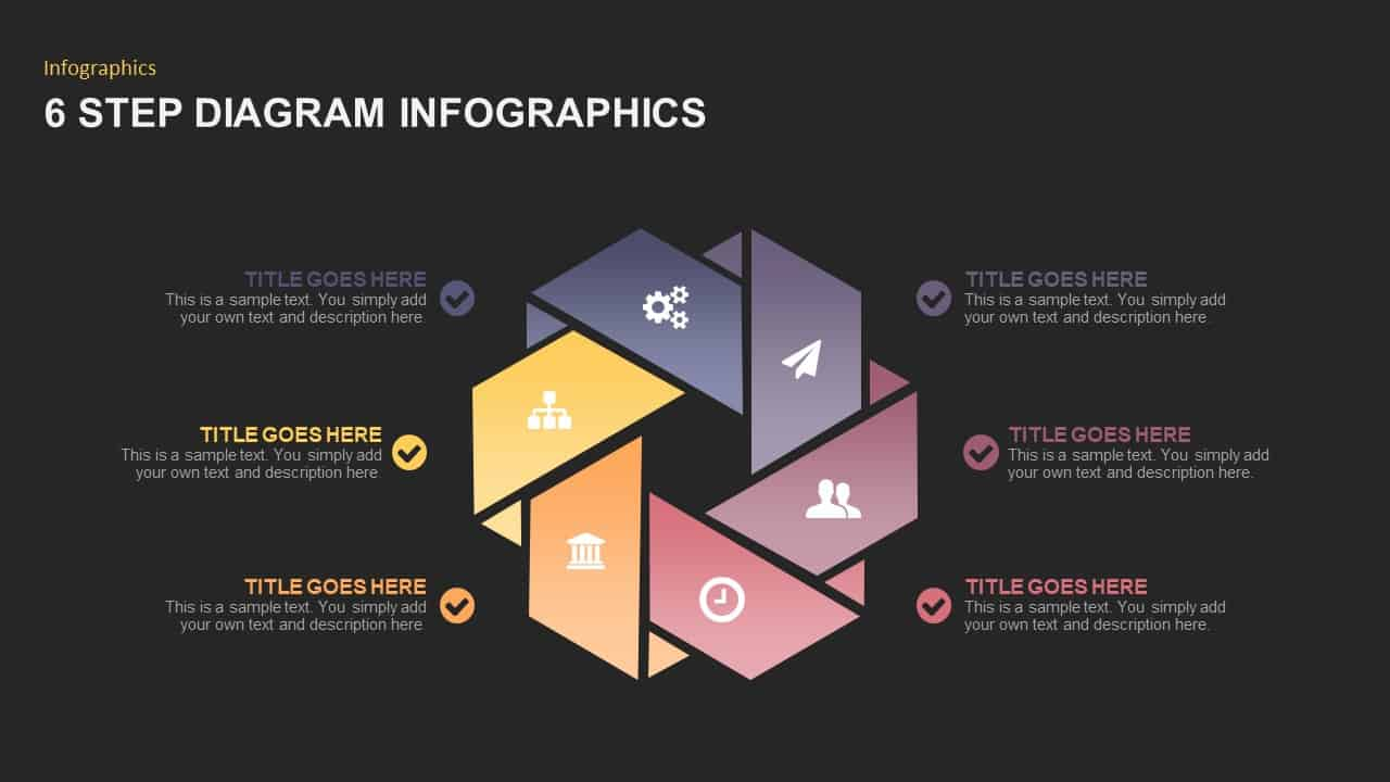 6 Steps Infographic PowerPoint Template