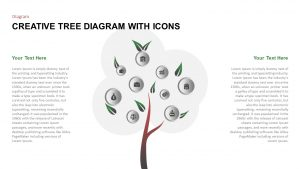 Creative Tree Diagram PowerPoint Template With Icons