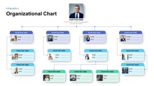 Simple Organizational Chart Template for PowerPoint Presentation
