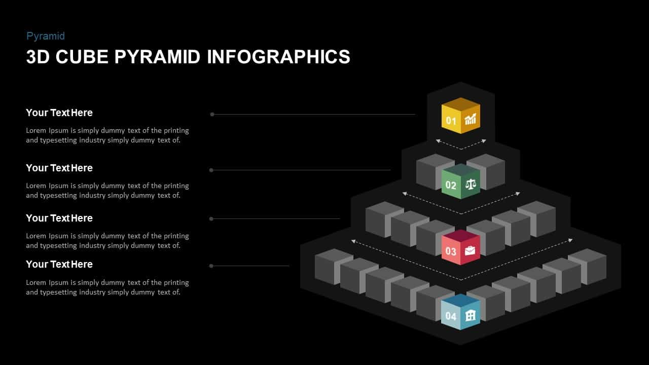 3D Cube Pyramid PowerPoint Template
