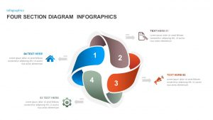 4 Sections Diagram Infographics Template