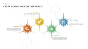 4 & 5 Step Honeycomb PowerPoint Template