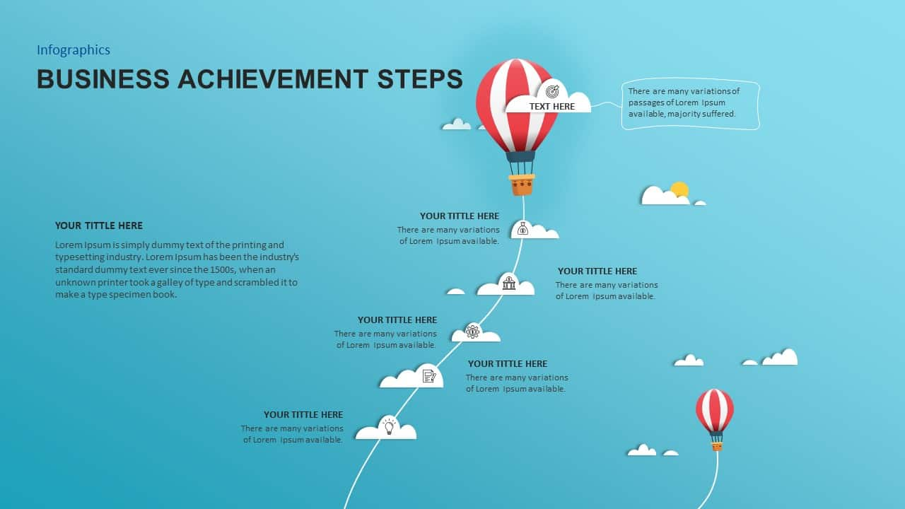 Achievement PowerPoint Template Steps for Business