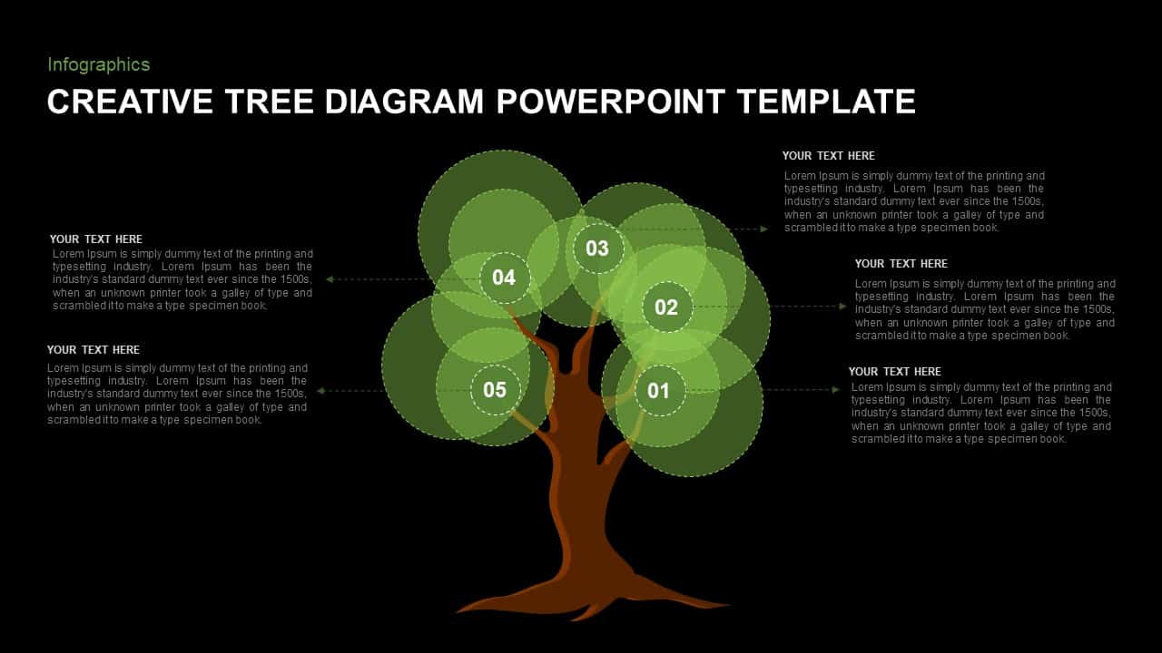 Awesome Tree Diagram Template for PowerPoint Presentation