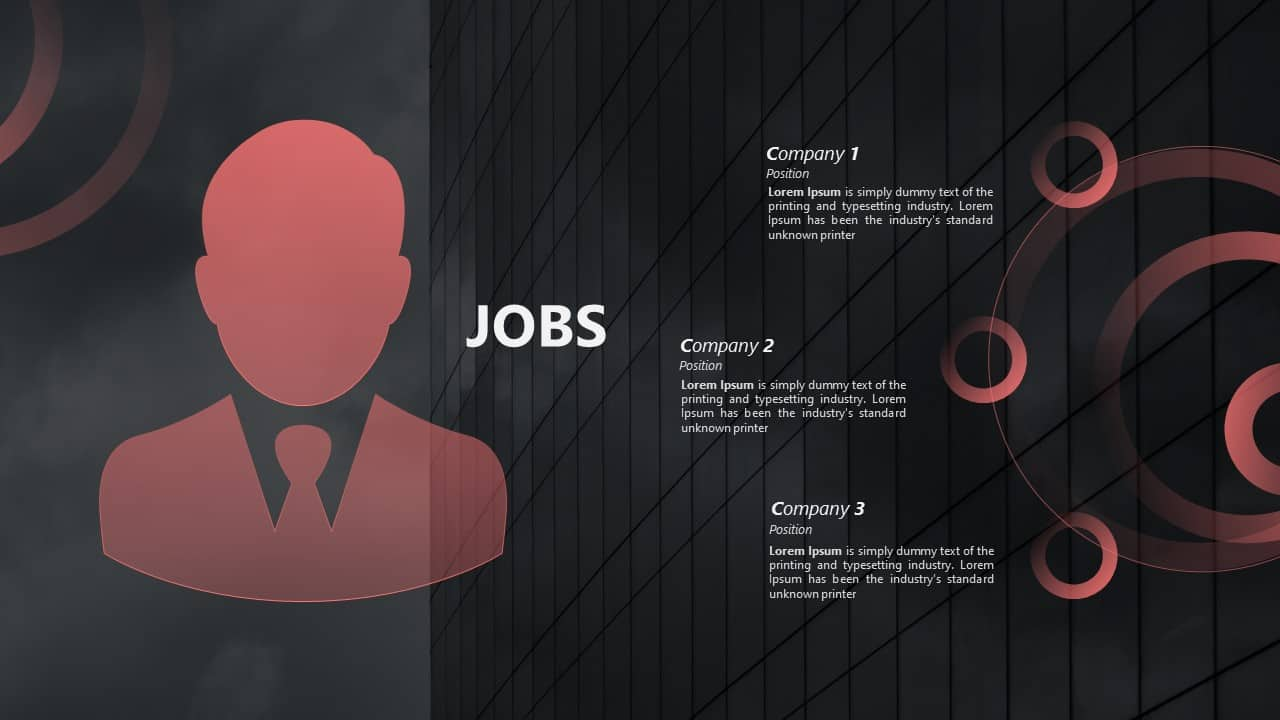 CV PowerPoint Template Jobs
