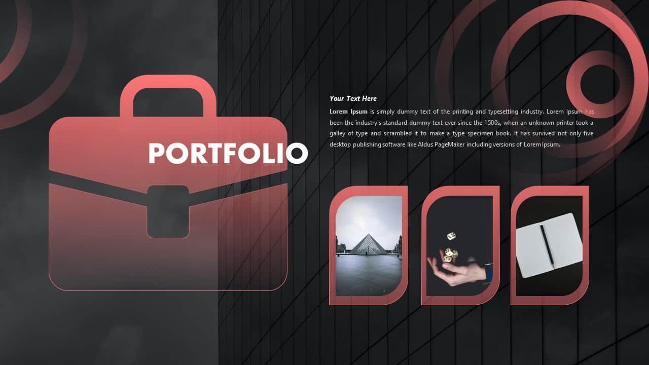 CV PowerPoint Template Portfolio