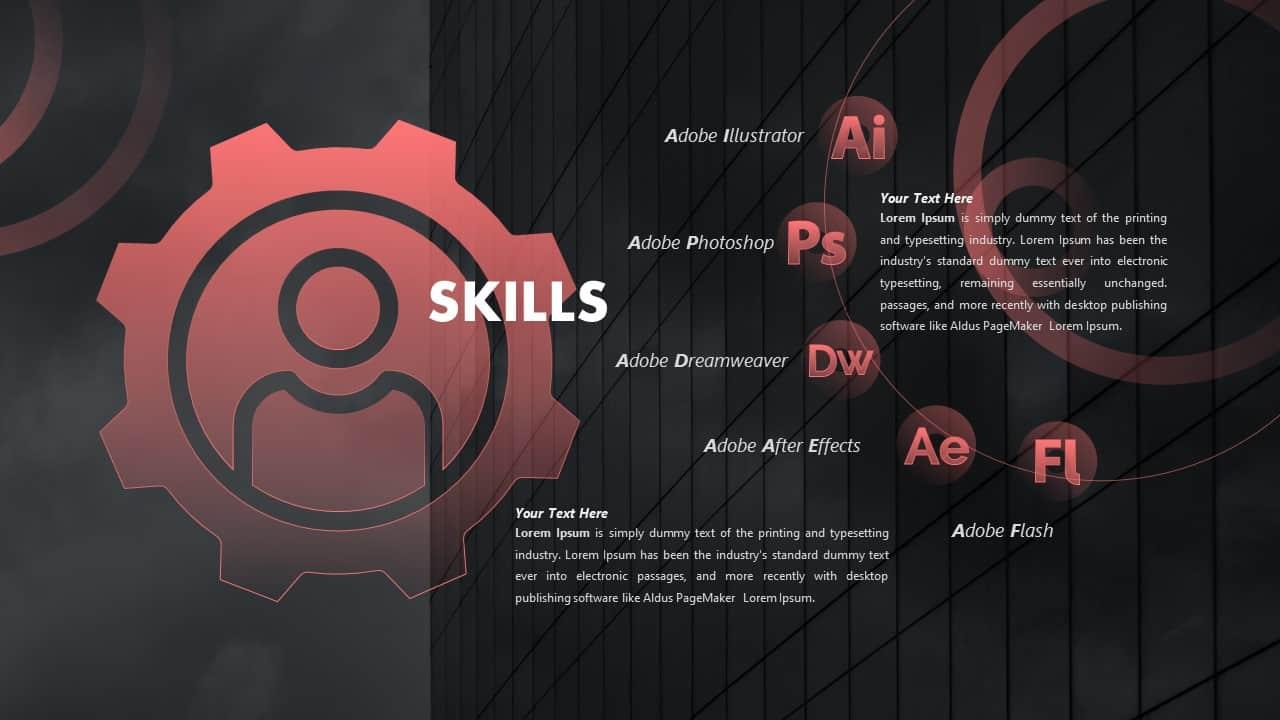 CV PowerPoint Template Skills