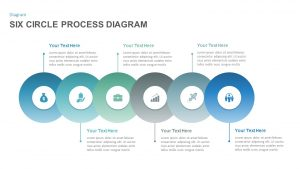 Six Circle Process Diagram Template