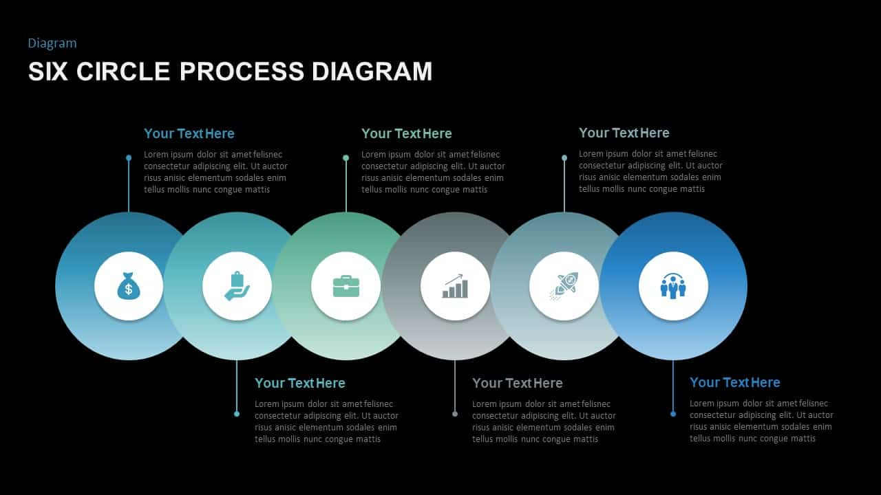 Circle Process Diagram PowerPoint Template