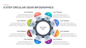 8 Step Circular Gear Infographic Template