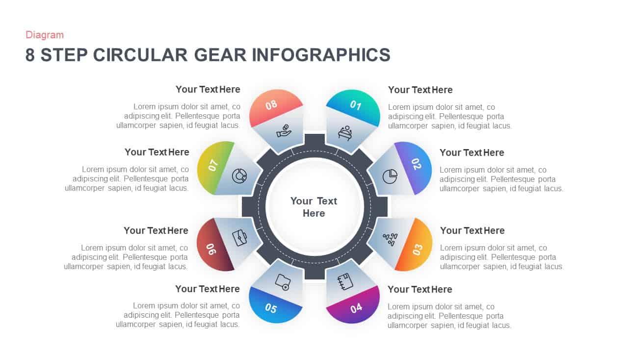 Circular Gear PowerPoint Template