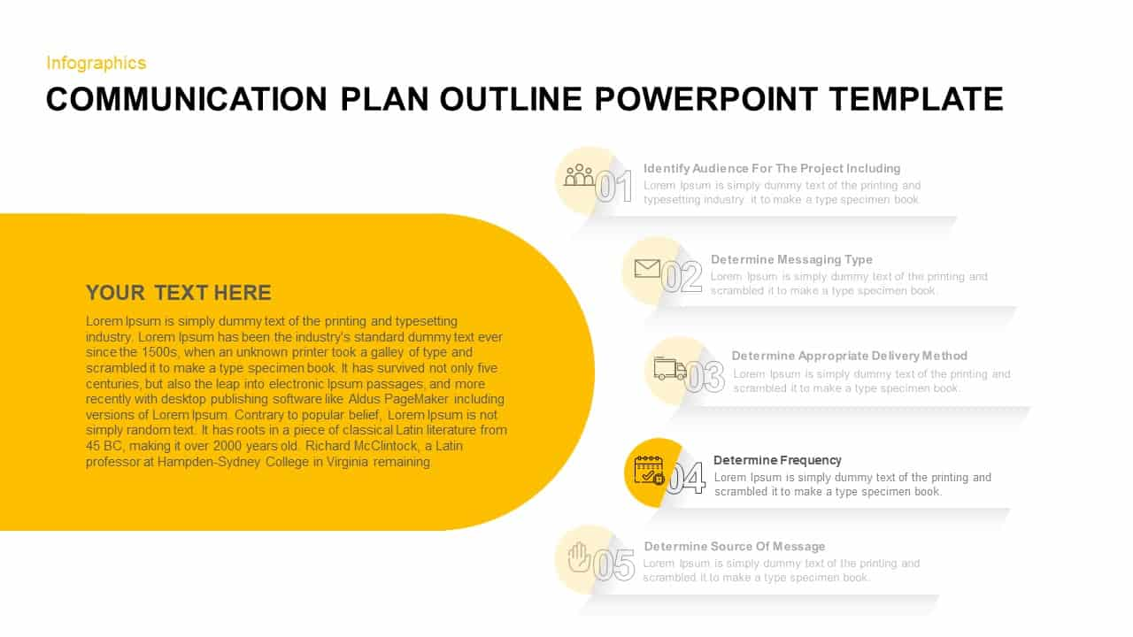 Communication Plan Outline PowerPoint