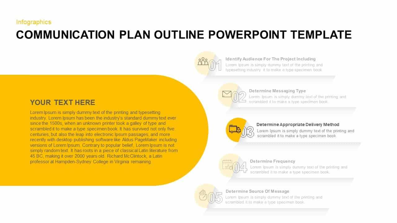 Communication Plan Outline Ppt Template
