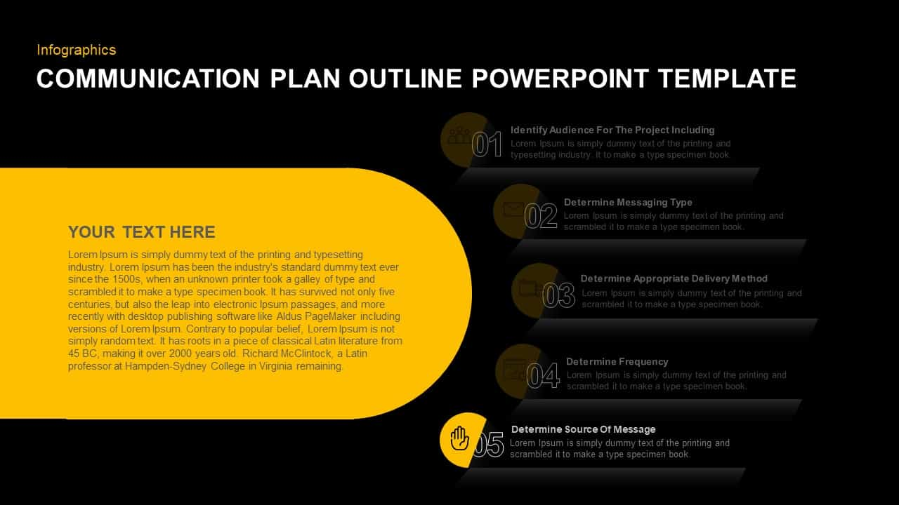 Communication Plan PowerPoint Diagram