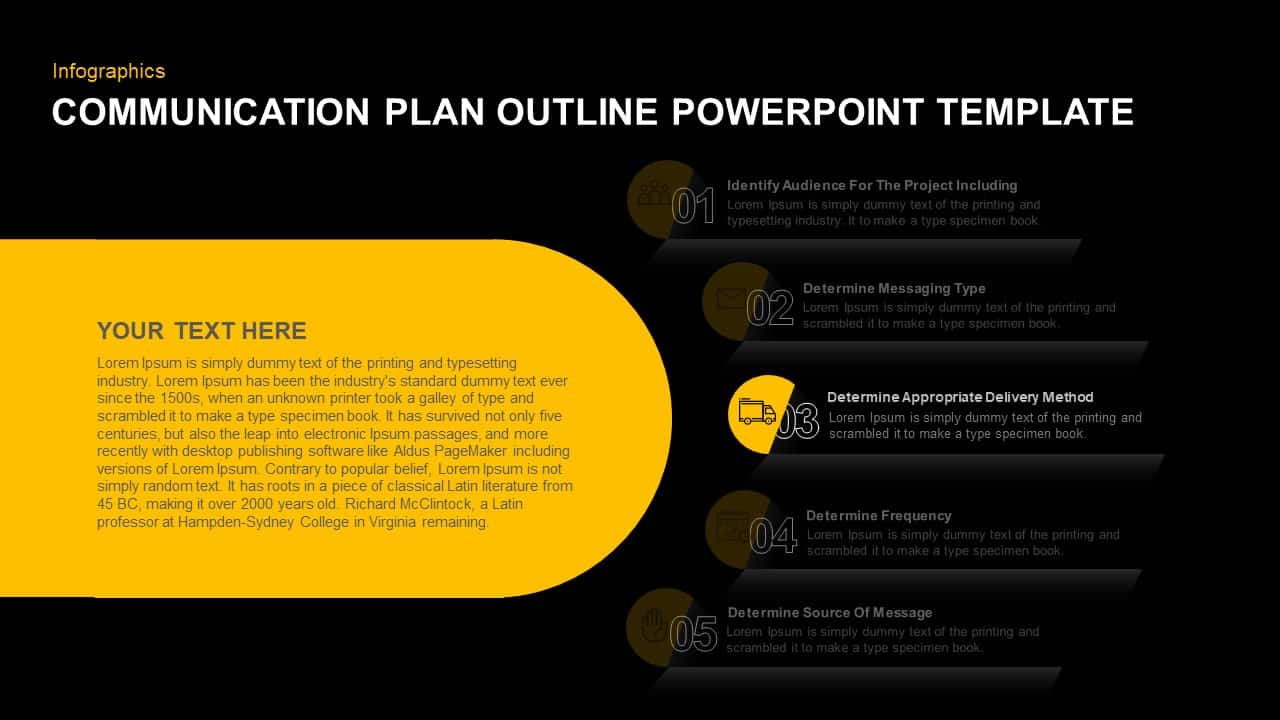 Communication Plan PowerPoint