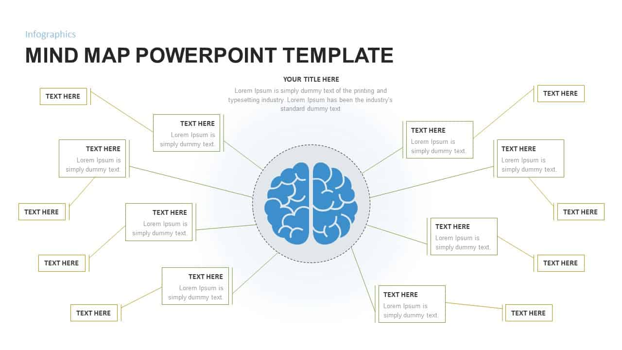 Mind Map Powerpoint Template For Brainstorming Presentation