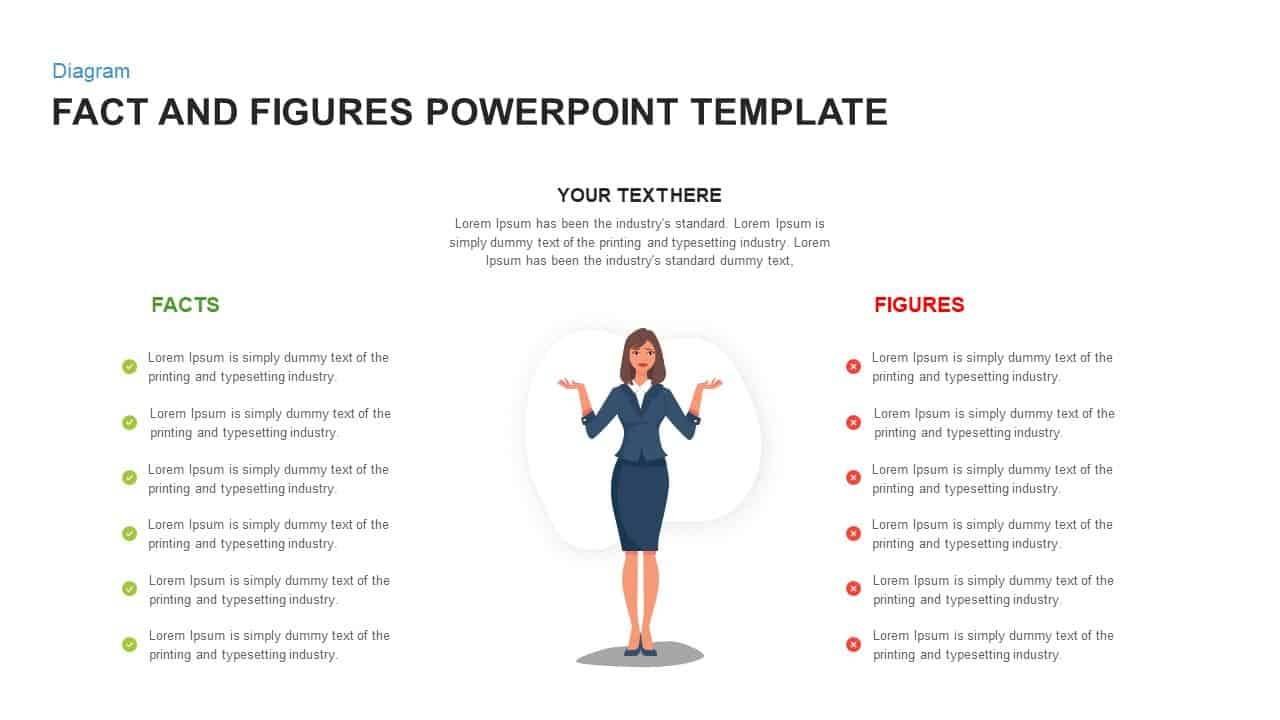 Facts and Figures PowerPoint Template