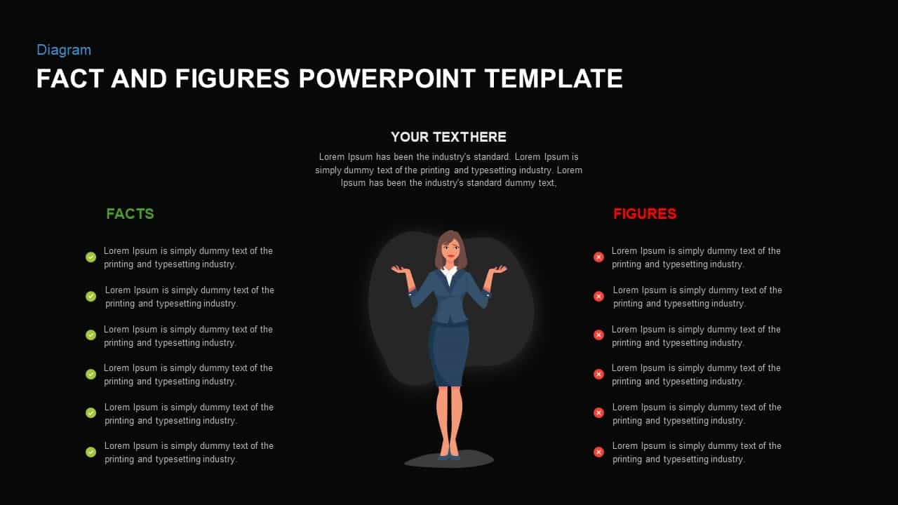 Facts vs Fiction PowerPoint template
