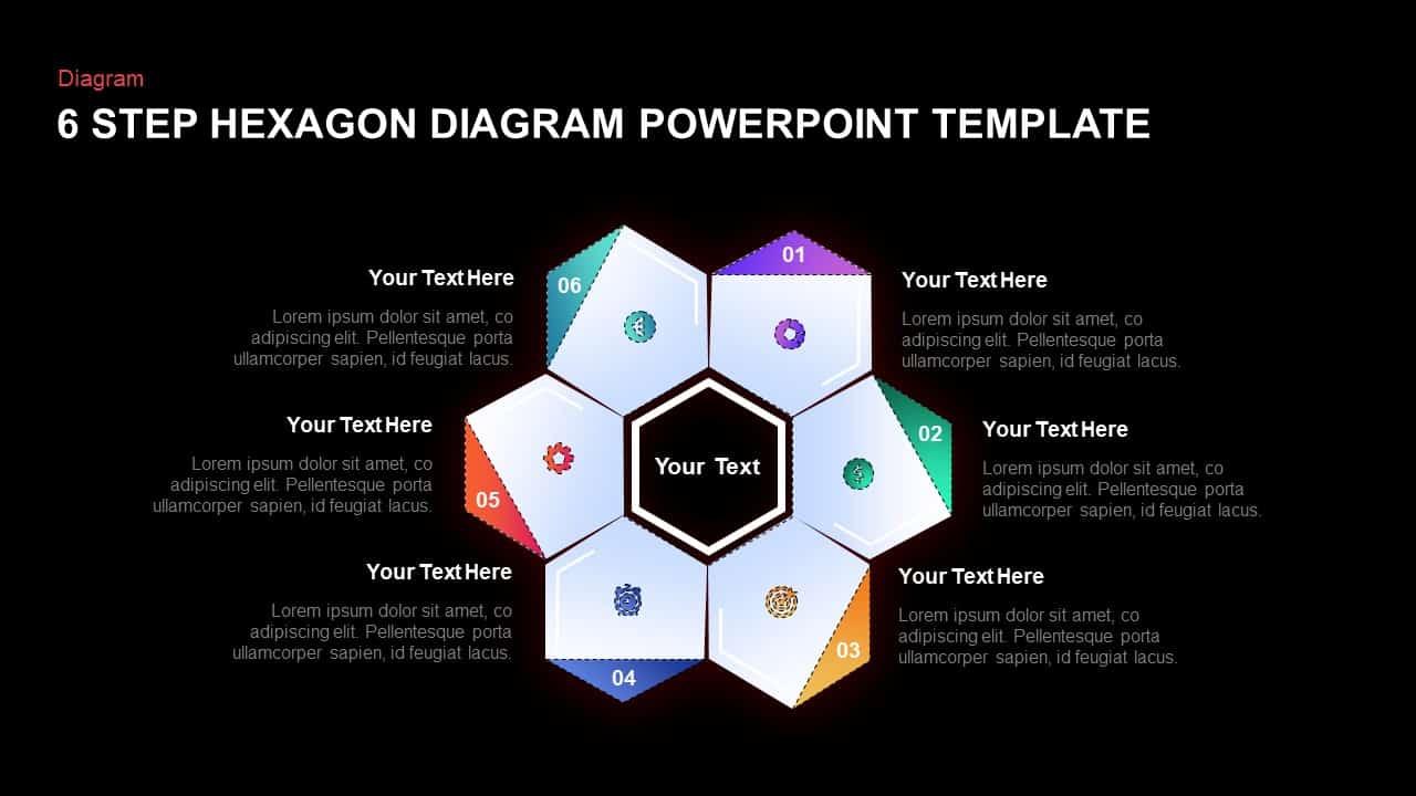 Hexagon Diagram Template for PowerPoint Presentation