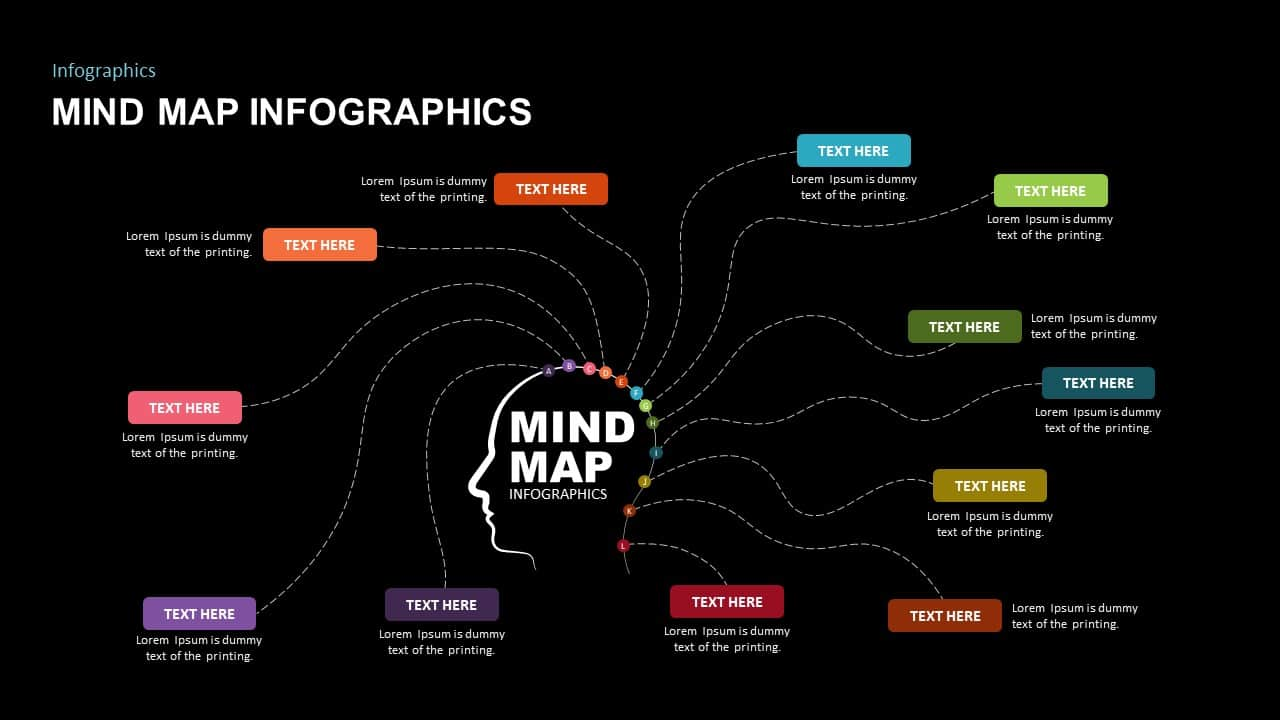 Mind Map Infographic Ppt Template