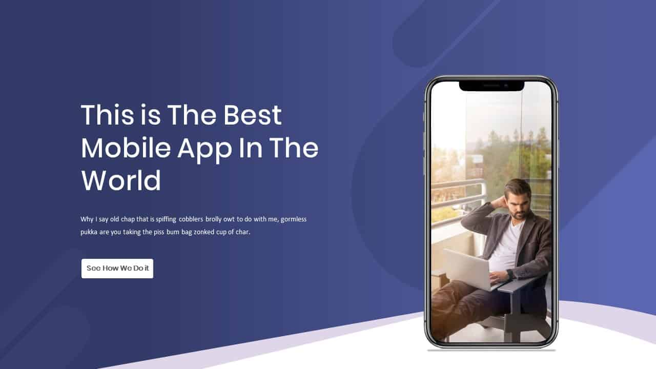 Mobile App Showcase Template