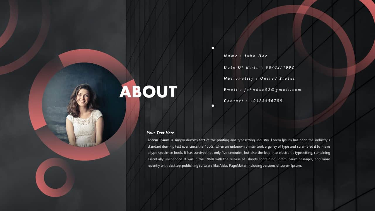 Personal CV PowerPoint Template