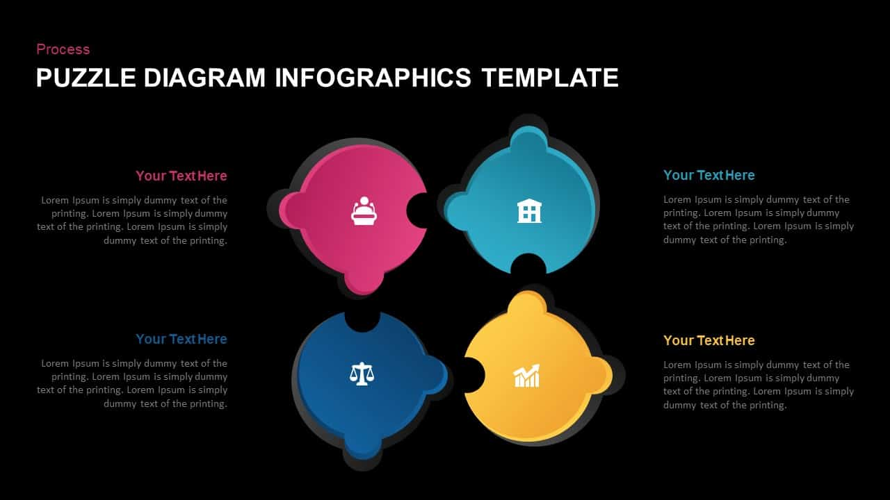 puzzle diagram PowerPoint template