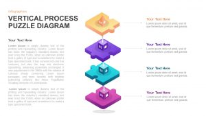 Vertical Process Puzzle Diagram PowerPoint Template