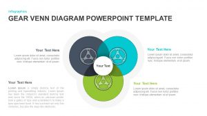 Gear Venn Diagram PowerPoint Template