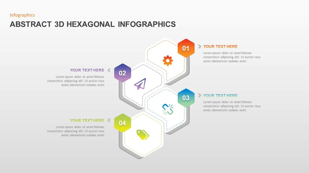 Abstract 3D Hexagonal Infographic