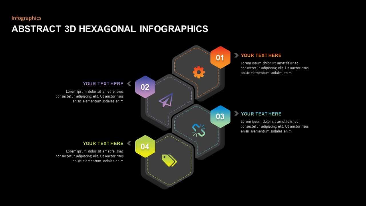 Abstract 3D Hexagonal Infographic Template