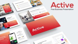Active Free PowerPoint Template for Business Presentation