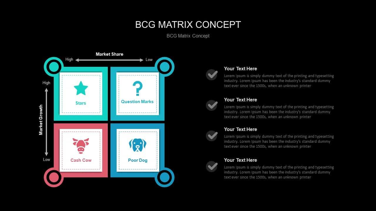 BCG Matrix Concept PowerPoint