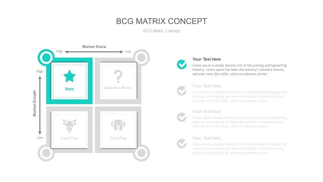 BCG Matrix Concept PowerPoint Diagram