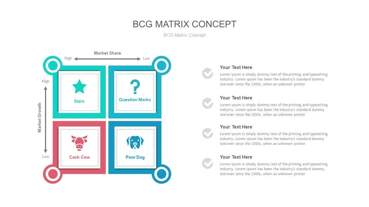BCG Matrix Concept PowerPoint Presentation