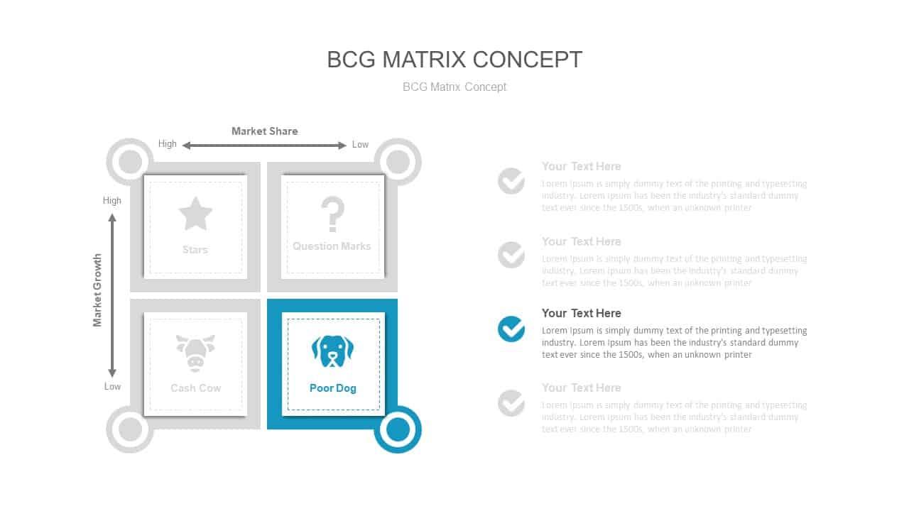 BCG Matrix Concept PowerPoint Presentation Template
