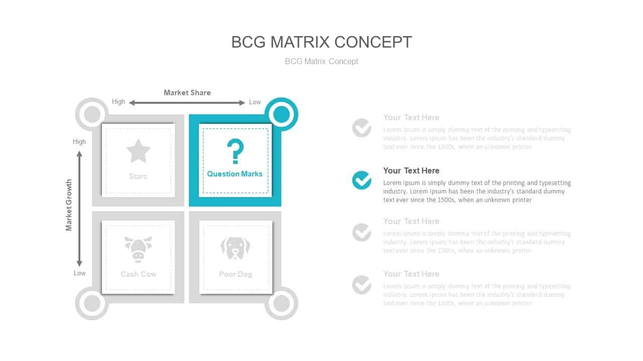 BCG Matrix Concept PowerPoint Slide