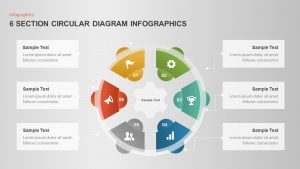 6 Section Circular Diagram Infographic Template