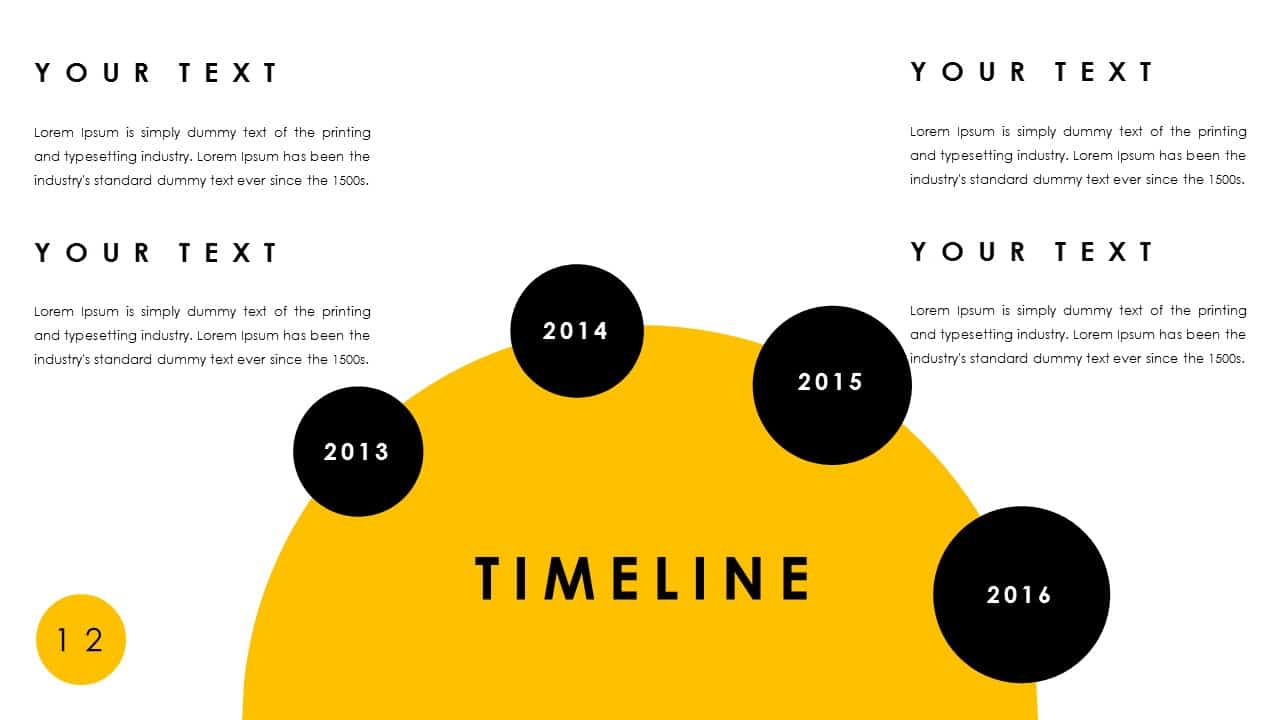 Free Timeline PowerPoint Deck Template