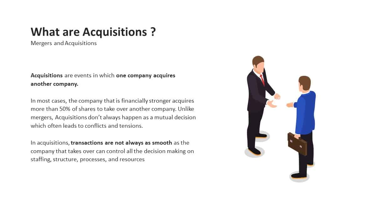 Mergers and Acquisitions PowerPoint Template What are Acquisitions