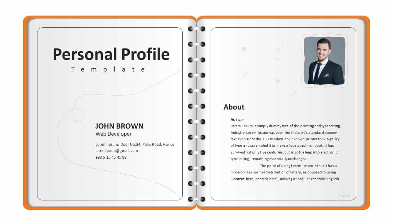 Personal Profile PowerPoint Template
