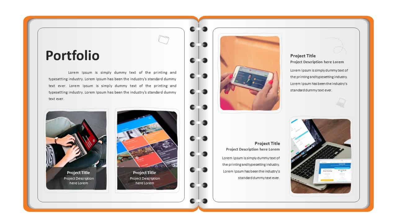 Personal Profile PowerPoint Template Portfolio