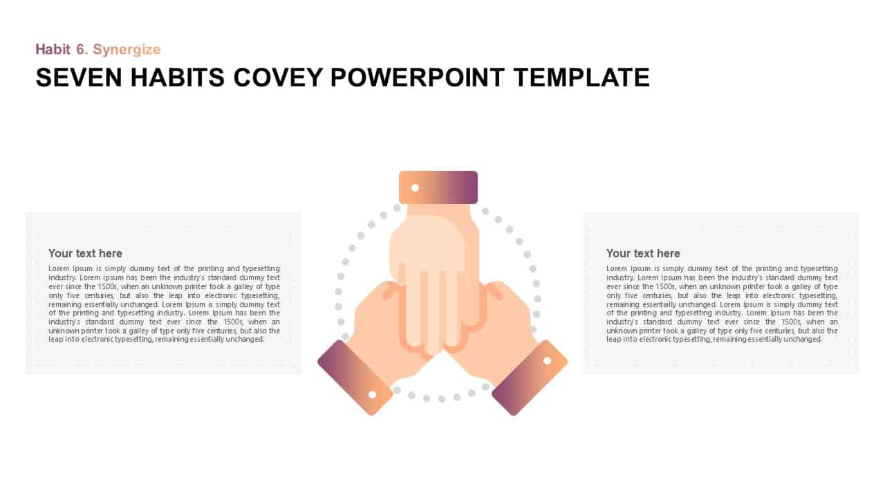 Seven Habits Stephen Covey PowerPoint Presentation