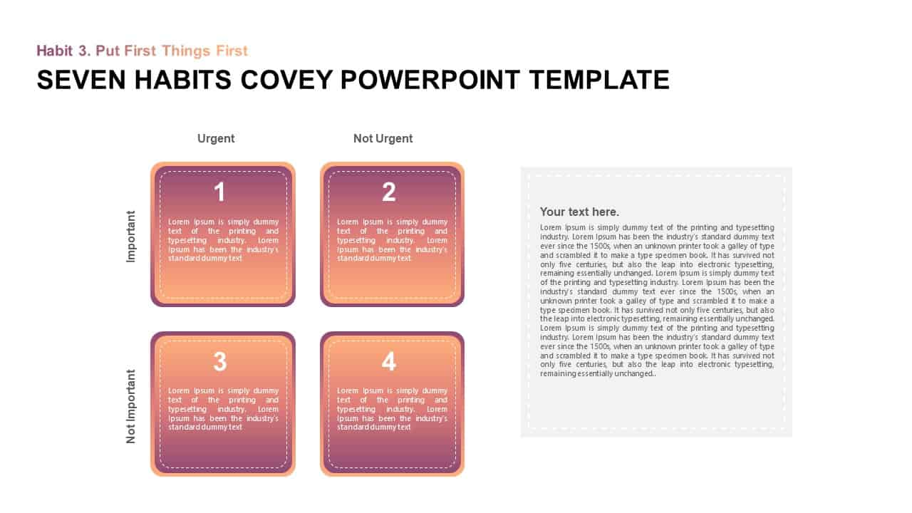 Seven Habits Stephen Covey Template