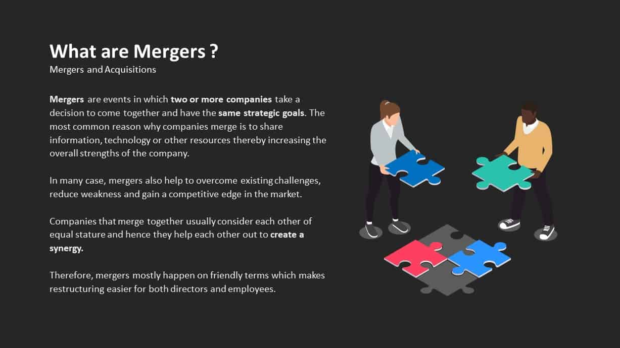 What is mergers ppt template