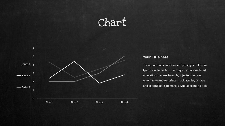 Blackboard Company Profile Chart PowerPoint Template