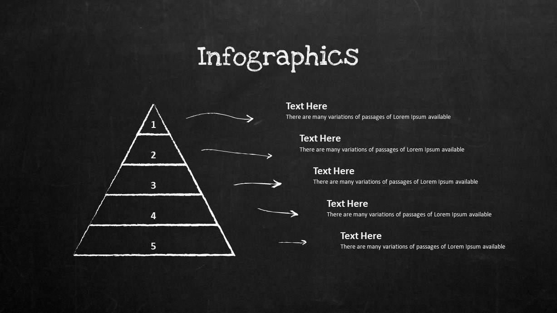 Blackboard Company Profile Pyramid PowerPoint Template