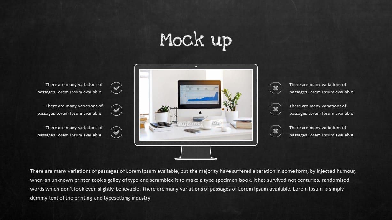 Blackboard Company Profile Computer Mockup PowerPoint Template