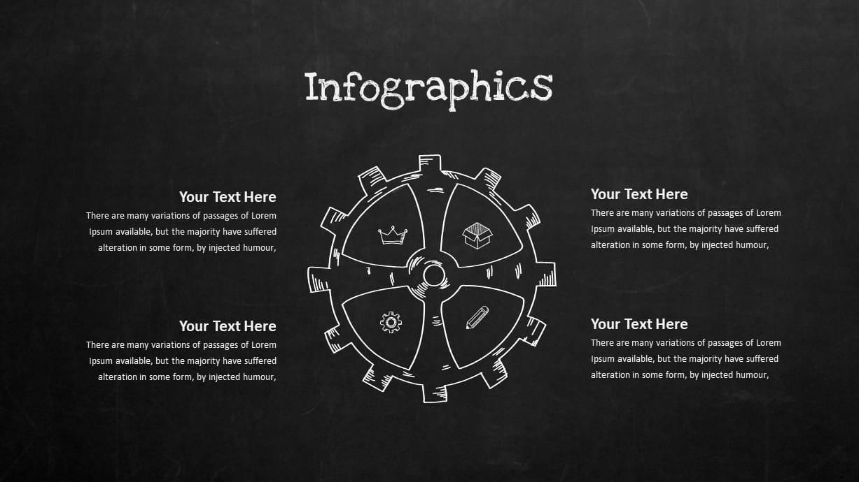 Blackboard Company Profile Infographic Circular Process PowerPoint Template