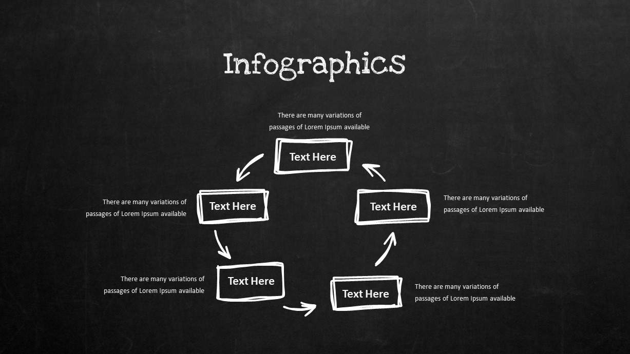 Blackboard Company Profile Infographic Process Flow PowerPoint Template